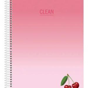 Caderno Espiral Capa Dura Universitário 10 Matérias Clean 160Fls São Domingos 233135