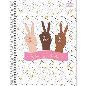 Caderno Espiral Capa Dura Universitário 10 Matérias Oh My God 160 Folhas Capa Sortida Tilibra