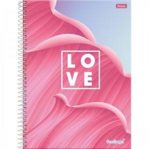 Caderno Espiral Capa Dura Universitário 15 Matérias Feelings 256Fls Tilibra 3067032