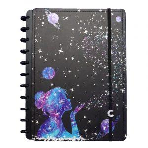 Caderno Inteligente Grande By Gogase Poeira das Estrelas 80 Folhas CIGD4096