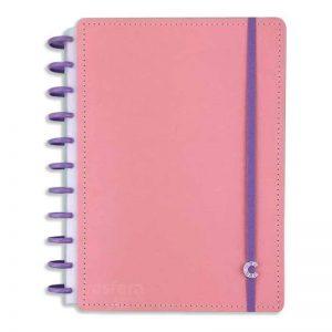 Caderno Inteligente Rosa Pastel Grande 140fls Cigdp4002