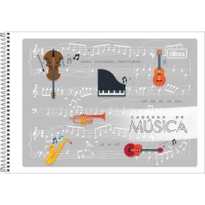 CADERNO MUSICA CF 1/4 ESPIRAL ACADEMIE 48FLS TILIBRA 111091