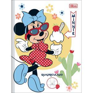 Caderno Quadriculado 1x1cm Brochura Capa Dura Minnie 40Fls Tilibra 149829