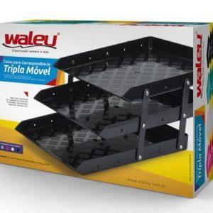 CAIXA CORRESPONDENCIA WALEU TRIPLA MOVEL ROSA 10050021