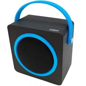 CAIXA DE SOM OEX BLUETOOTH SPEAKER BOX 10W RMS PRETO/AZUL SK404