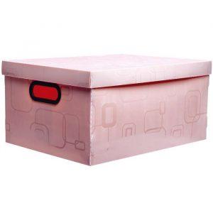 CAIXA DELLO ORGANIZADORA BOX GRANDE ROSA 420X310X200MM 2172Q0005
