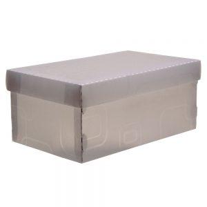 CAIXA DELLO ORGANIZADORA BOX MINI/SAPATO CRISTAL 280X170X120MM 2169H0005
