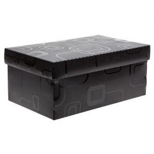 CAIXA DELLO ORGANIZADORA BOX MINI/SAPATO PRETO 280X170X120MM 2169P005
