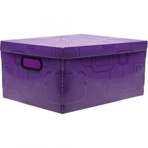 Caixa Organizadora Box Grande Roxo 42X31X20CM 2172R