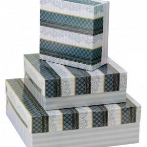 Caixa Presente Flexivel Pequena Quadrada c/ Elástico Sortidas - Cristina