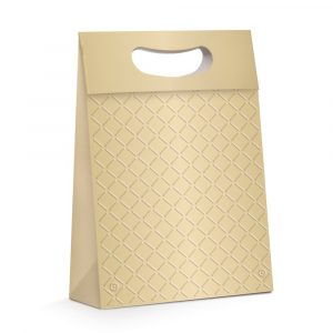 Caixa Presente Plus C/Relevo Ouro Média 13002331 Cromus