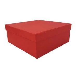 Caixa Presente Quadrada G Lisa Vermelho Up Box 2773