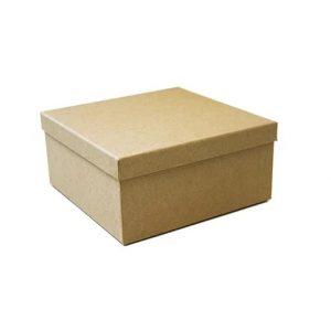 Caixa Presente Quadrada M Kraft Natural Up Box 2783