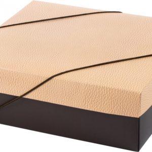 Caixa Presente Quadrada Média c/ Elásico Flexivel Couro Up Box 2990