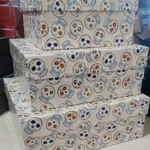 Caixa Presente Quadrada P Caveira Mexicana Up Box 1888