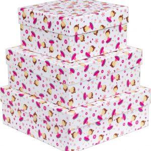 Caixa Presente Up box Quadrada Bailarina Grande