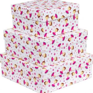 Caixa Presente Up box Quadrada Bailarina Media