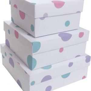 Caixa Presente Up box Quadrada Confetti Grande
