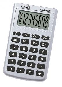 CALCULADORA CLASSE CLA2239 9,4X5,5X0,7CM 8DIG