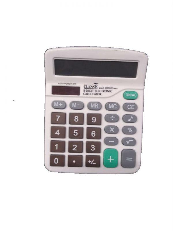CALCULADORA CLASSE CLA9805C 15X12X3,5CM 8DIG