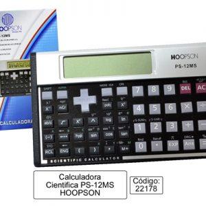 CALCULADORA HOOPSON CIENTIFICA PS12MS 8X13X2CM 12DIG