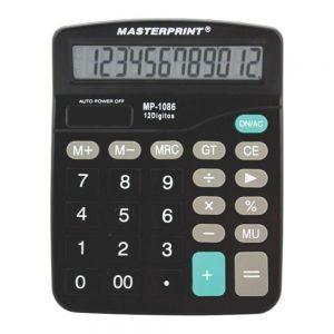 CALCULADORA MASTERPRINT MP1086 15X12X3CM 12DIG