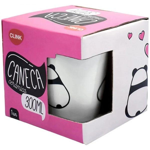 Caneca Ceramica Estampada Sortidas 300ml - Clink