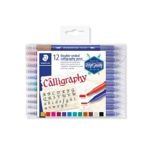 Caneta Calligraphy Staedtler 12 Cores Ponta Dupla 3.5 e 2.0mm 3005TB12