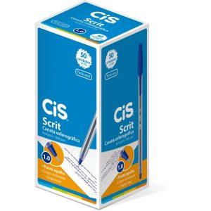 CANETA CIS 1.0 SCRIT AZUL CX50 413200