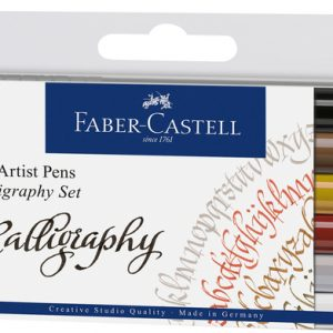 CANETA FABER CASTELL ARTISTICA PITT CALIGRAFIA 06 CORES 167506
