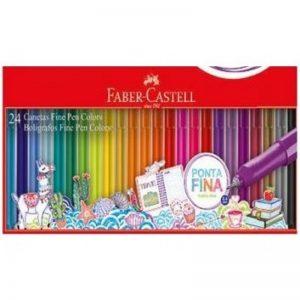CANETA FABER CASTELL FINE PEN 0.4 24 CORES FPB/ES24ZF