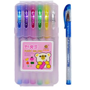 CANETA GEL GLITER FLASH PEN PCT06