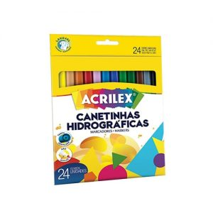 CANETA HIDROGRAFICA ACRILEX HIDROPEN 24 CORES 06924