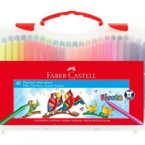 CANETA HIDROGRAFICA FABER CASTELL MALETA 48 CORES 555347