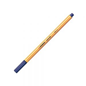 Caneta Hidrográfica Point 88 Stabilo 88/22 Azul Marinho c/10