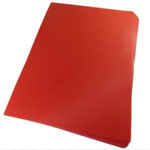 Capa Para Encadernação Alaplast Vermelho Line Frente A4 50 Unidades
