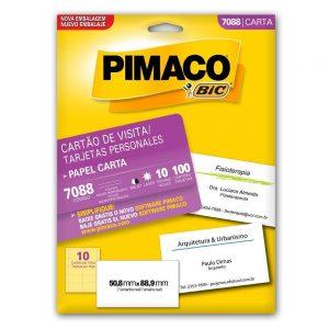 CARTAO VISITA PIMACO EXPRESSIONS 7088 180GRS 10FLS 50,8X88,9MM