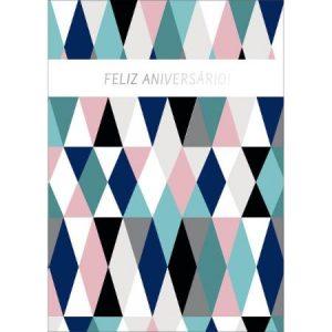 Cartão Aniversário Grafons Losango 30577