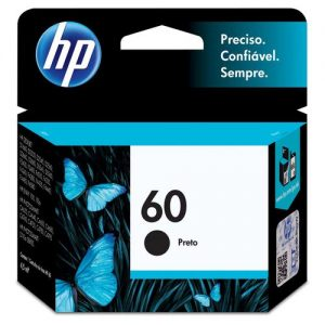 CARTUCHO ORIGINAL HP 60 PRETO 4,5ML