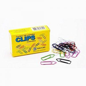 Clips 2/0 Bacchi Aço Colorido CX 100 unidades 3135456