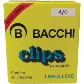 Clips Bacchi Galvanizado Linha Leve N4/0 CX 50und