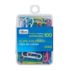 CLIPS TILIBRA 2/0 COLORIDO D302 CX100 288985