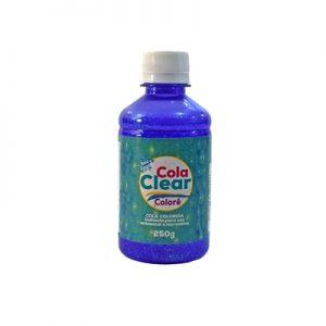 COLA CLEAR COLORE GLITTER FUNNY ROXO 250GRS