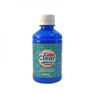 COLA CLEAR COLORE GLITTER NEON AZUL 250GRS