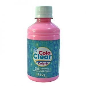 COLA CLEAR COLORE GLITTER ROSA BEBE 250GRS