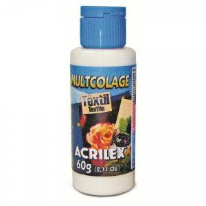 Cola para Decoupage Multcolage Têxtil 60grs Acrilex 18260
