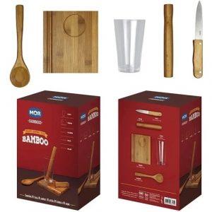 Conjunto De Caipirinha Mor Bamboo C/5 Peças 003395