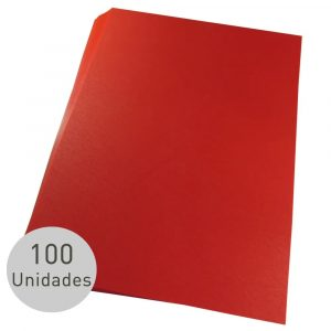 Contra Capa Para Encadernação Alaplast Vermelho Line A4 100 Unidades