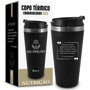 COPO BRASFOOT TERMICO INOX EMBORRACHADO PROFISSAO NUTRICAO 450ML 2740