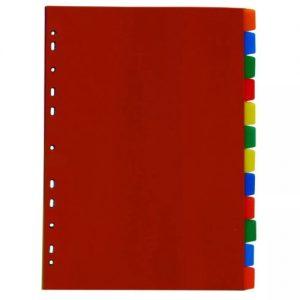 DIVISORIA DAC FICHARIO PLASTICO 10 DIVISORIAS COLOR 6922CL